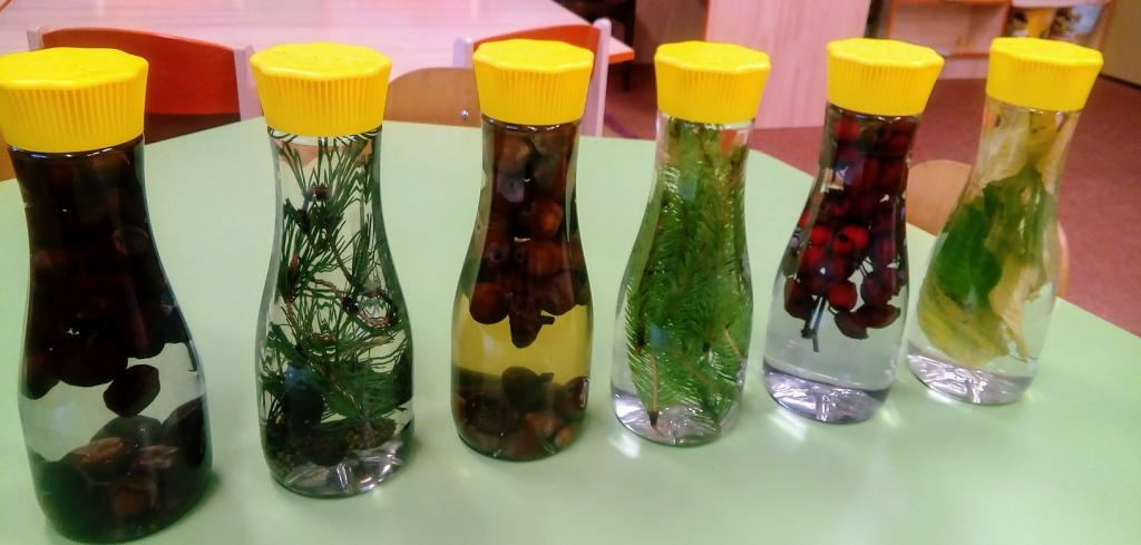 Jesenná príroda vo fľaši