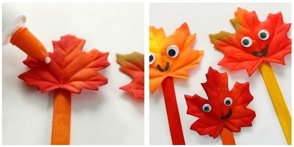 Jesenné listové bábky