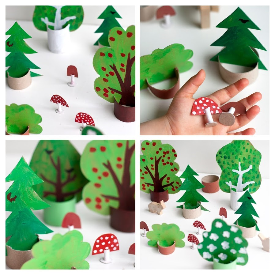 Vyrobte si s deťmi papierový les