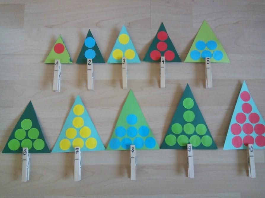 Jednoduchá vianočná matematická pomôcka