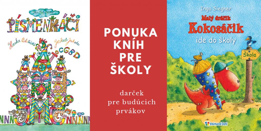 Ponuka pre školy – knihy pre budúcich prvákov